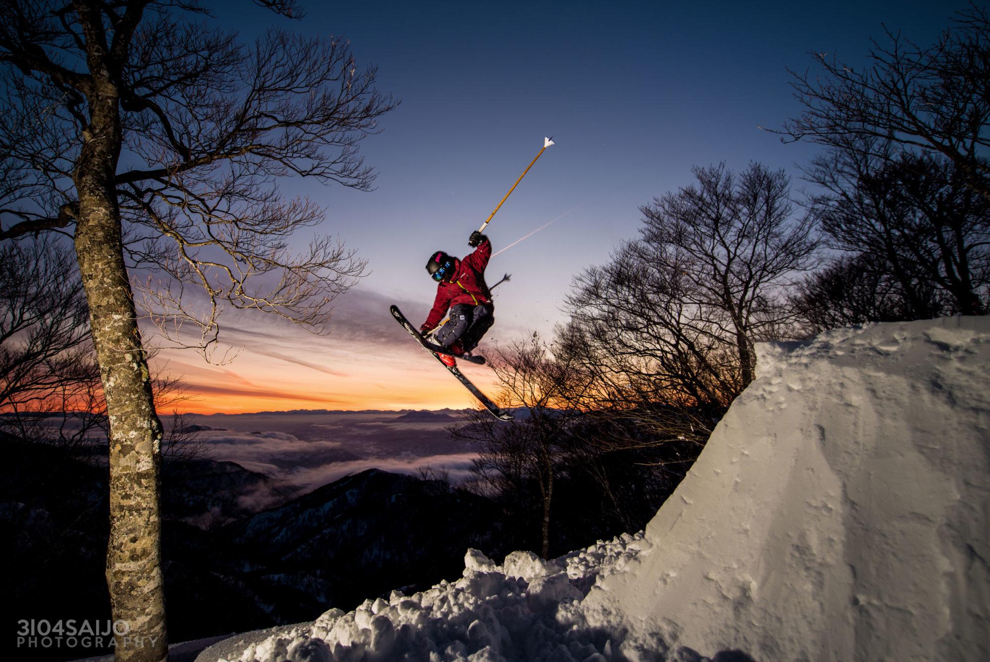 スキーヤー河野祥伍 photo by 西條聡