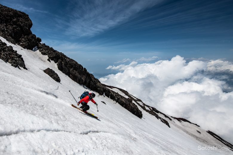 富士山スキー滑走3