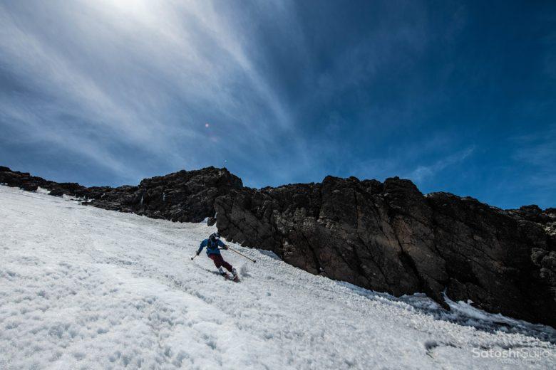 富士山スキー滑走2
