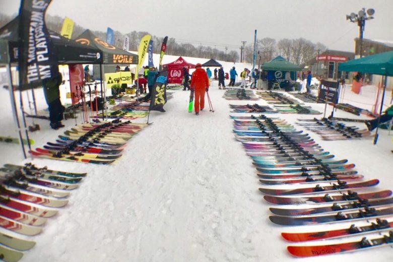 スキーの試乗会