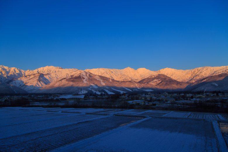 白馬の冬景色