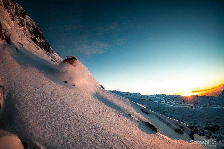 立山の絶景でターン