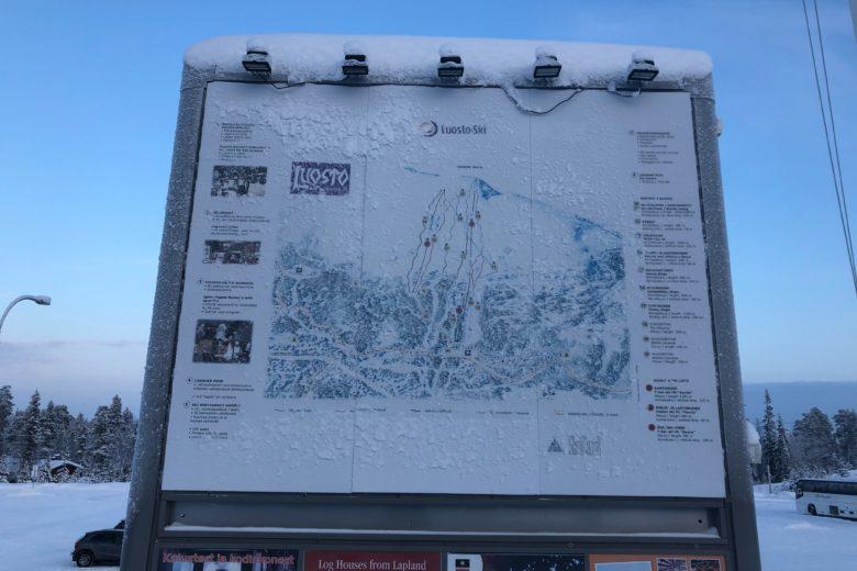 ルオストスキー場のコースマップ