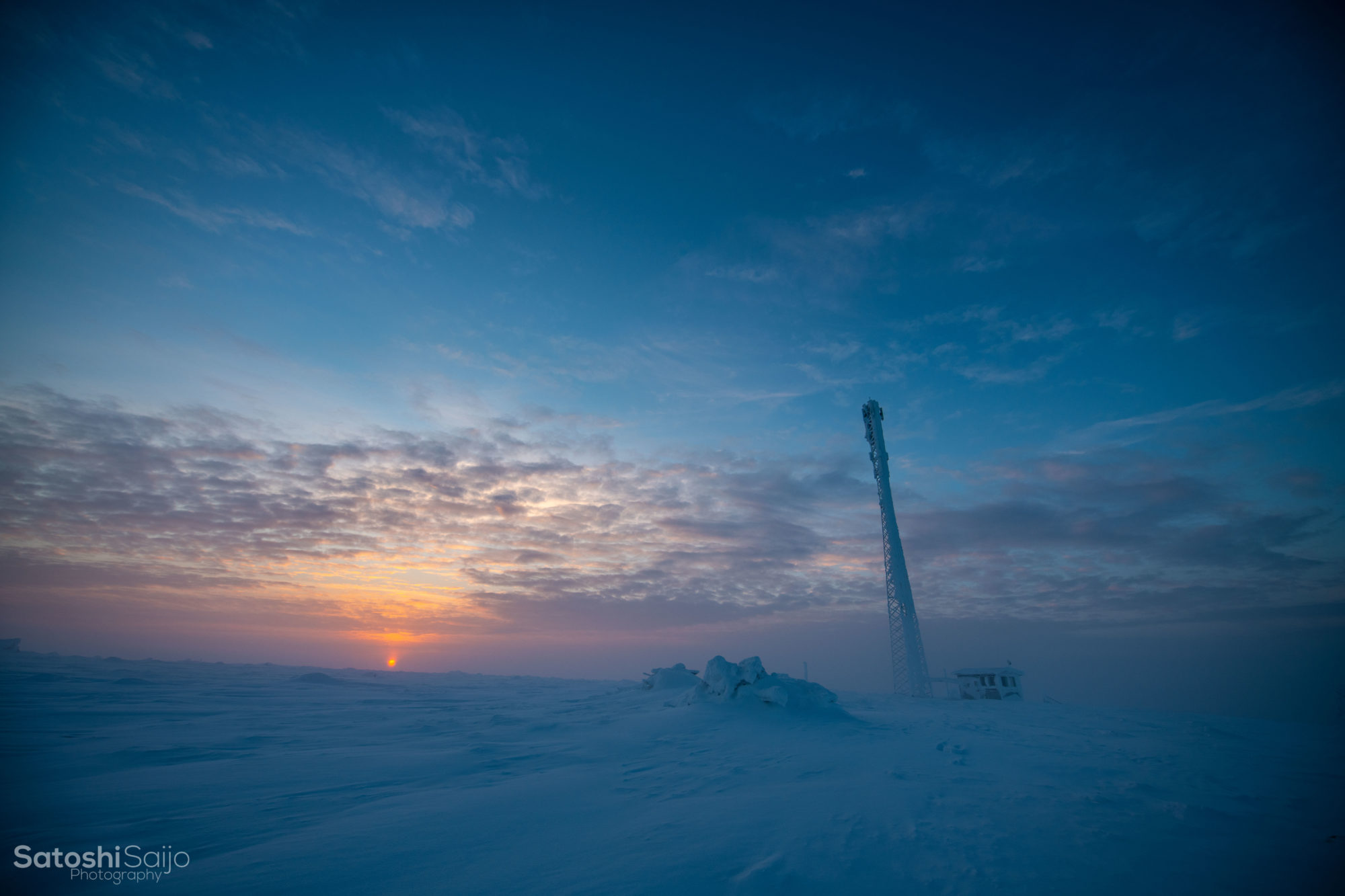 北極圏のスキー場の絶景
