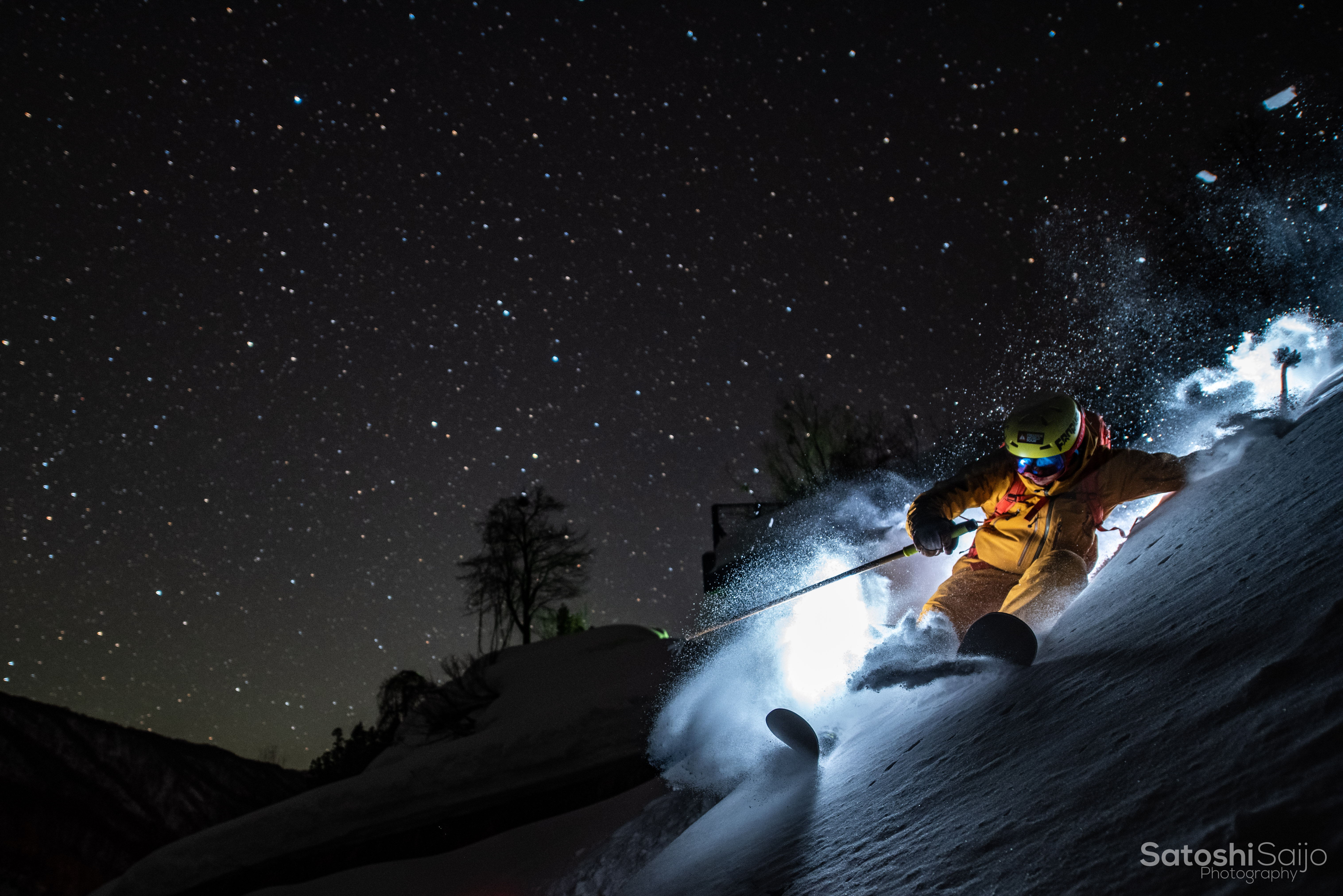 星空スキー ガチャピン