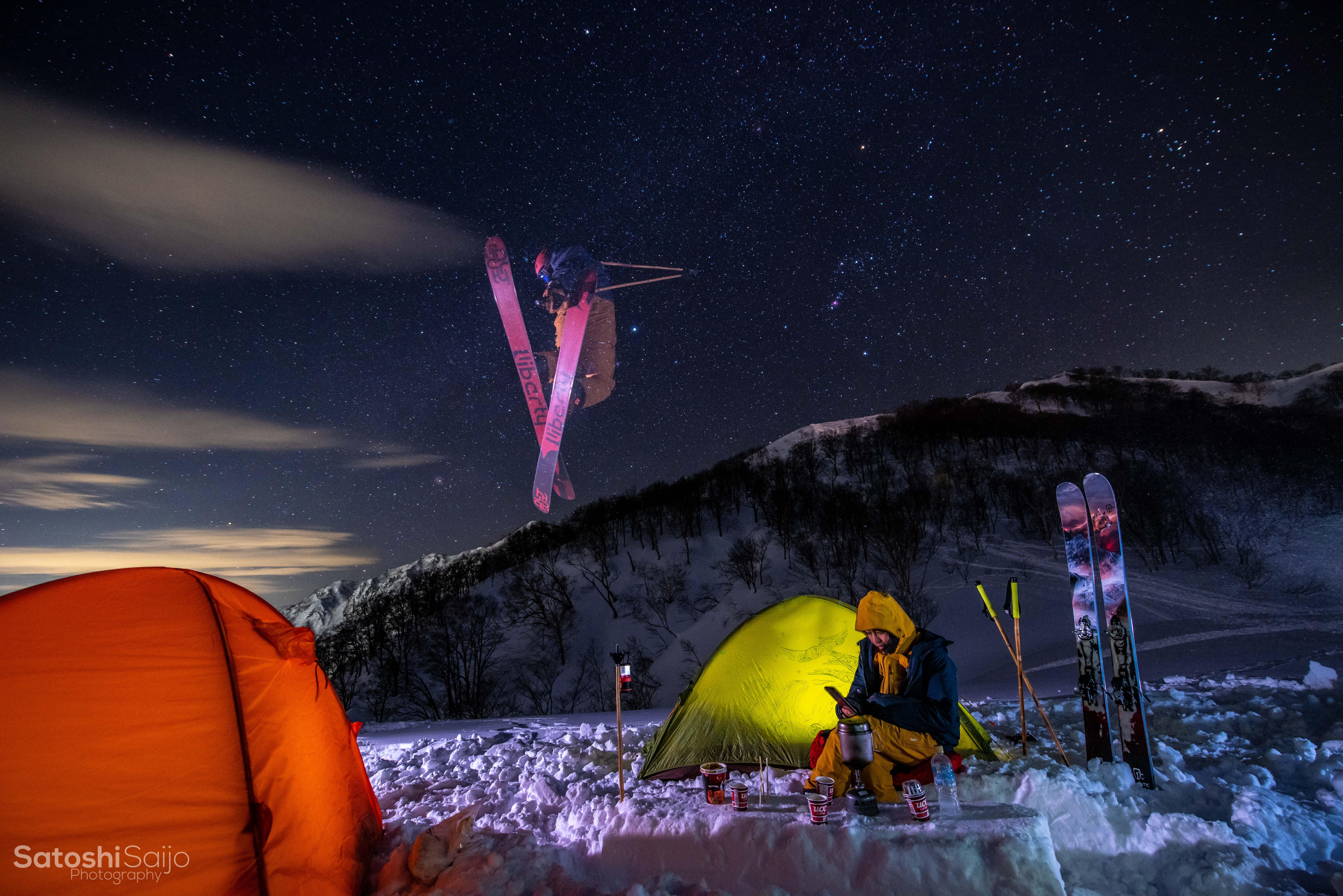 キャンプ&星空スキー