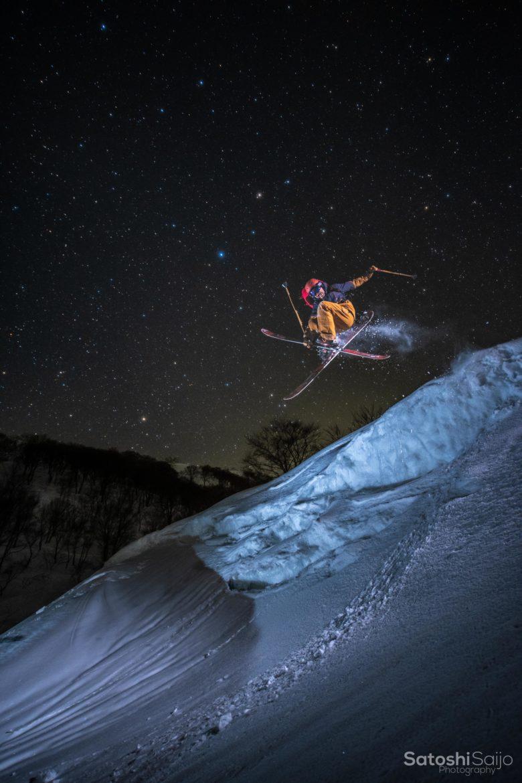 星空スキー最高のクレイジージャンプ