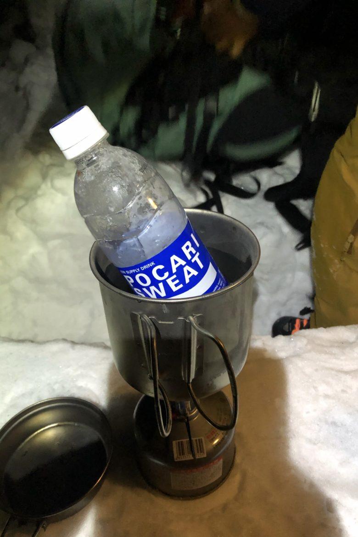湯煎で温める