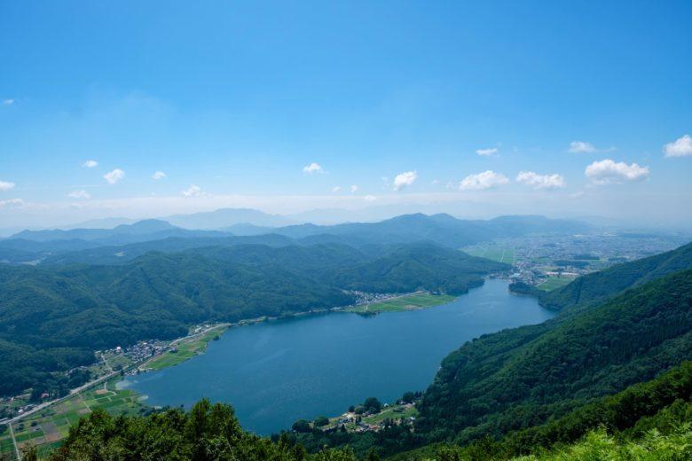 小熊山からの木崎湖