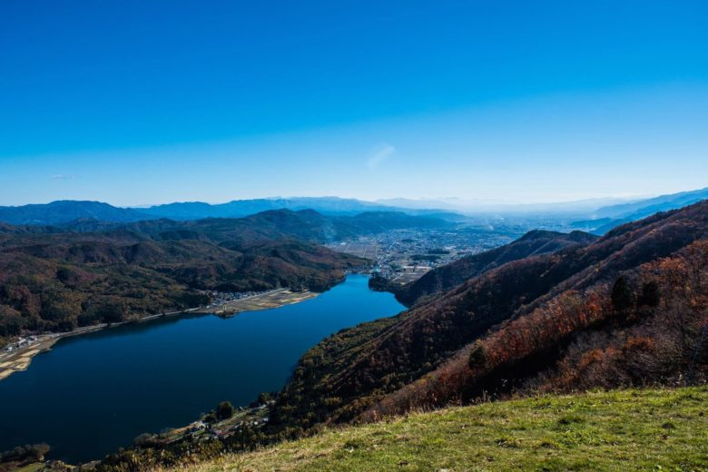 小熊山から見る木崎湖