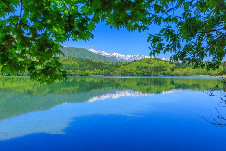 日本有数の透明度を誇る青木湖